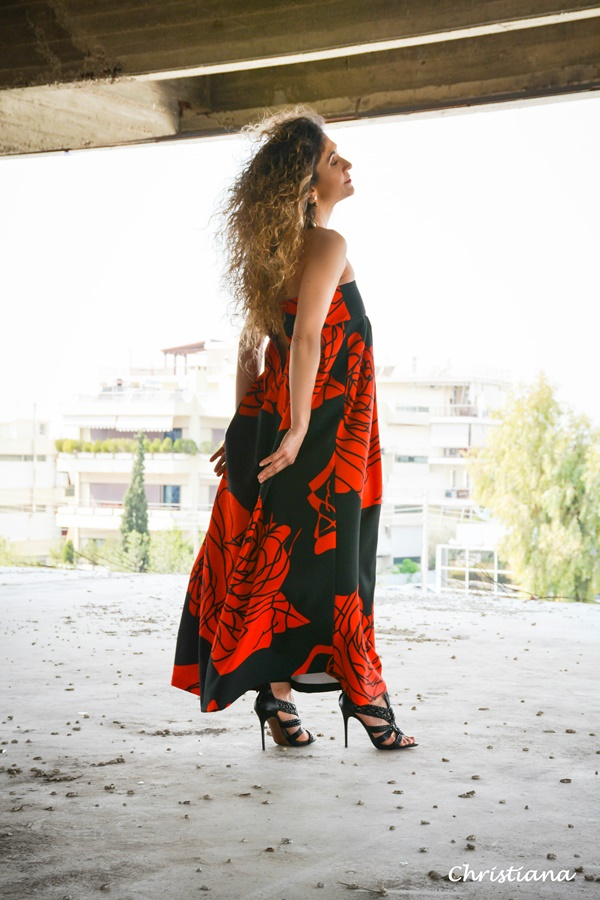 Red color street style through the lens of Christiana Kokore