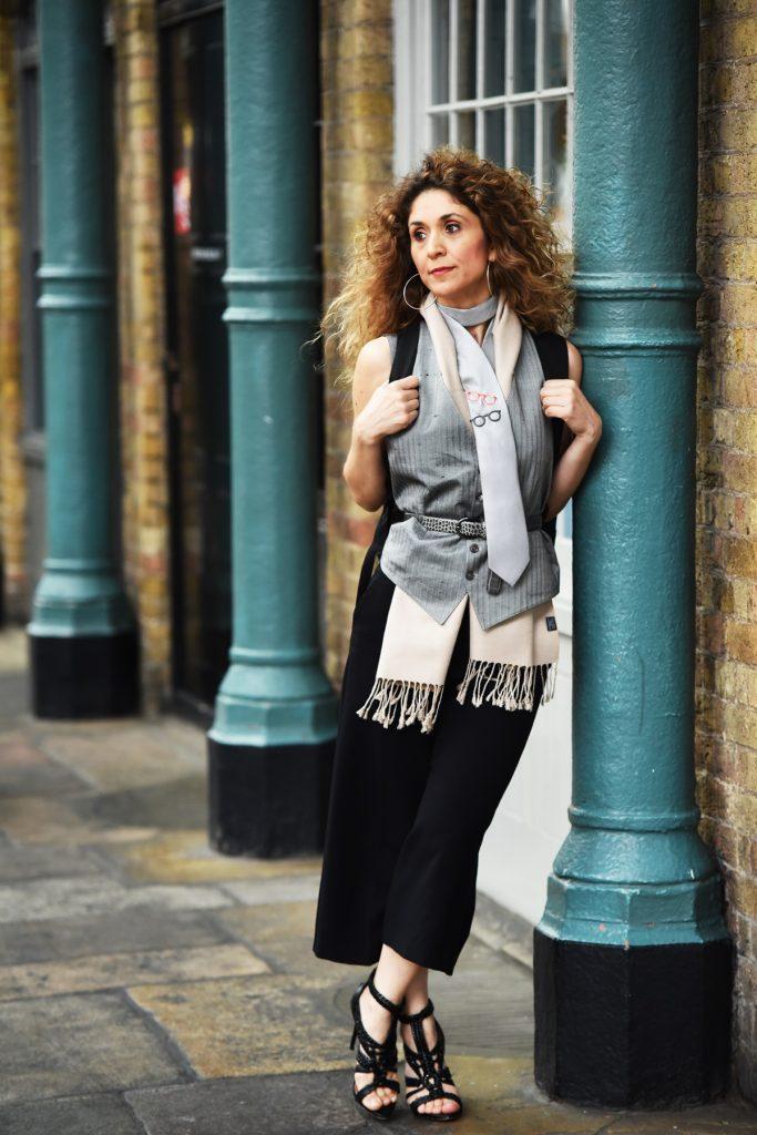 London street style at LFWM 2017, Silk ties Silkline Ath Mouhtaridis