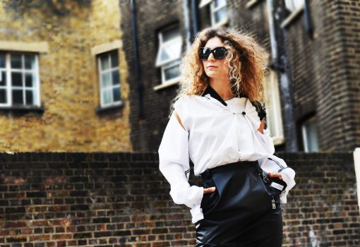 Spiros Eleftheriou, designer of NGFL, London Street Style by Think Feel Discover at LFW September 2017
