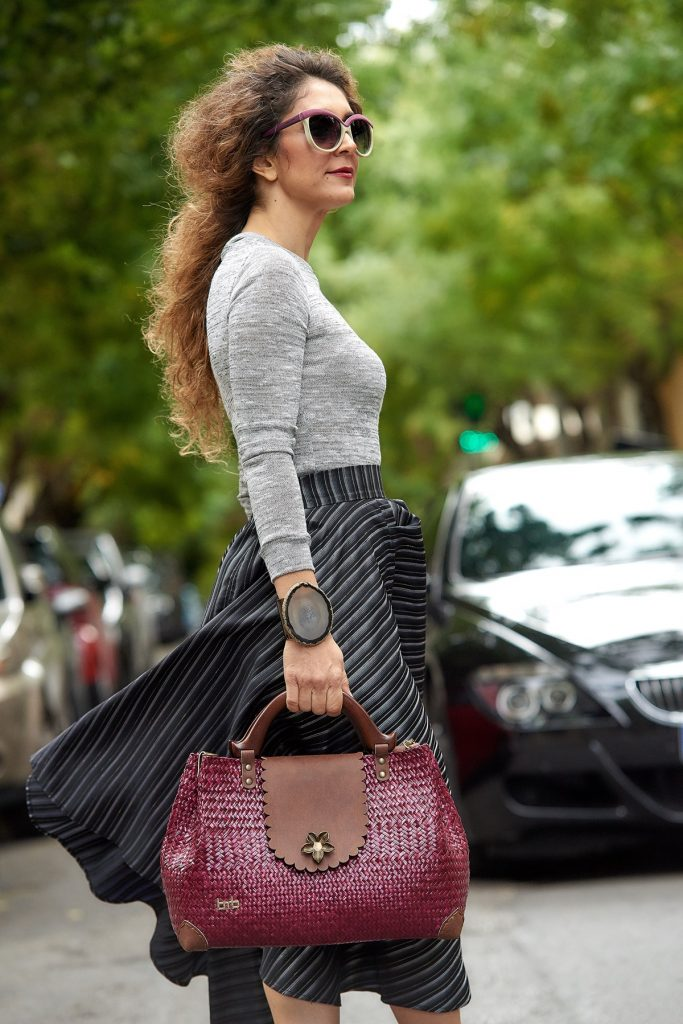 Black color, Maison Faliakos design, Fashion Street Style by Think Feel Discover