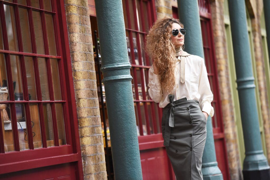 Silk tie in daily style, London street style by Think Feel Discover