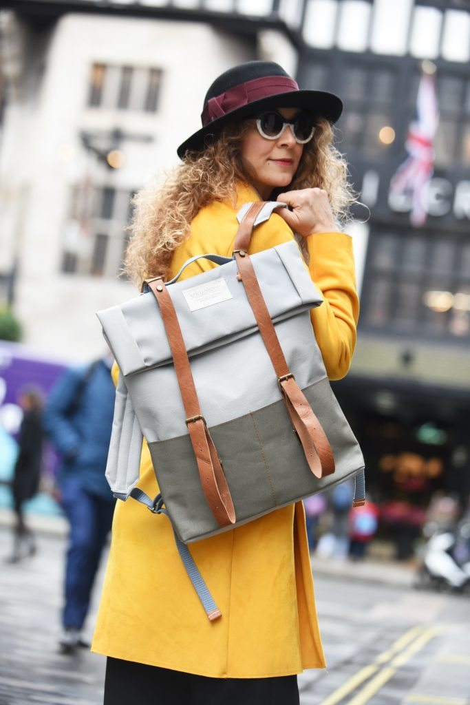 Sustainable fashion, London street style at LFW Feb2018