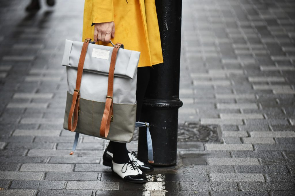Sustainable fashion, London street style at LFW Feb2018