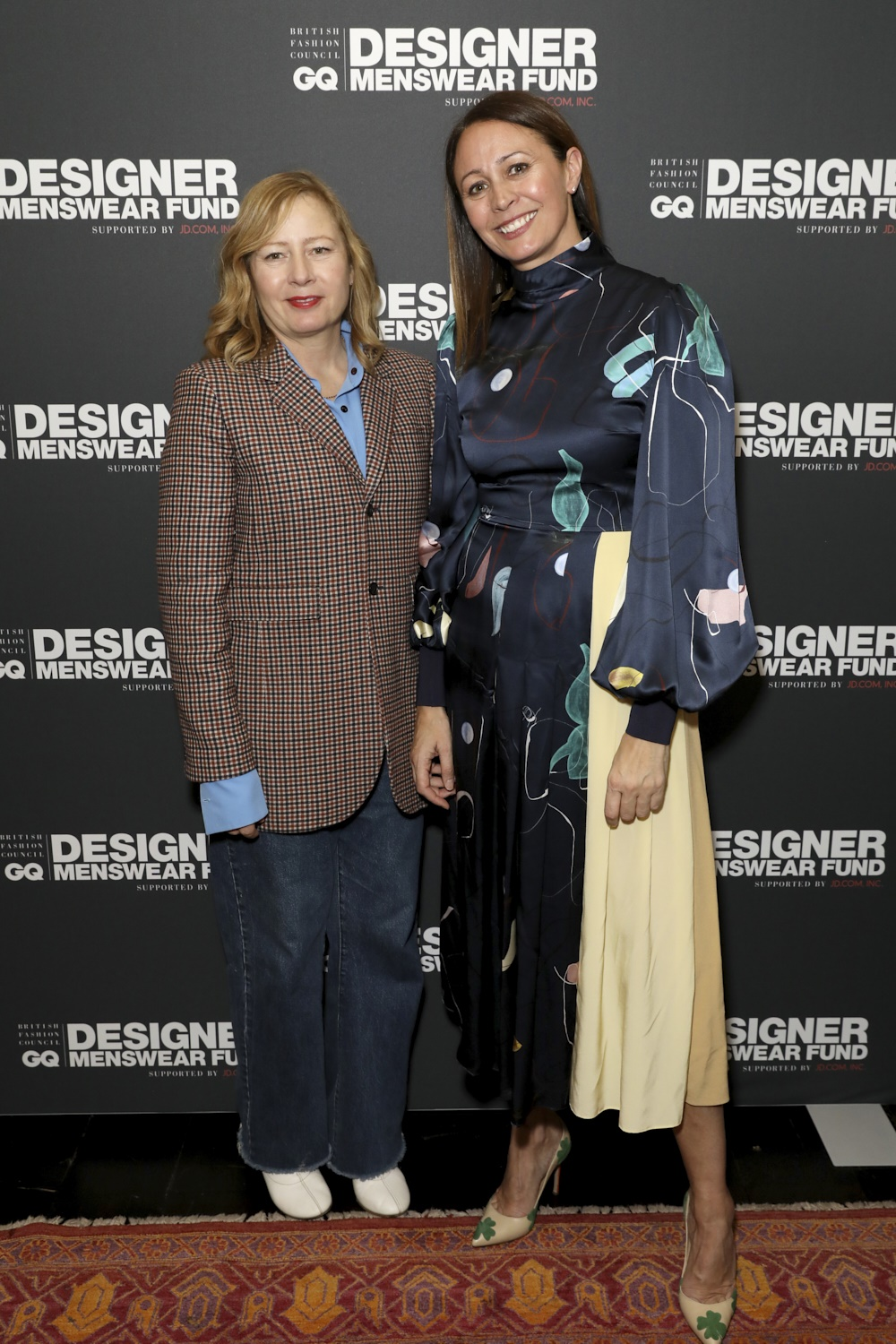 Sarah Mower, Caroline Rush at the BFC/CG Designer Menswear Fundsupported by JD.com