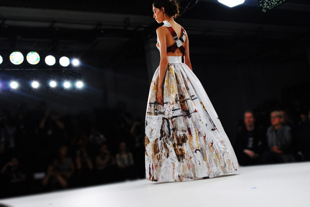 Claire Tagg fashion show, graduate student at GFW17, highlights by Think Feel Discover