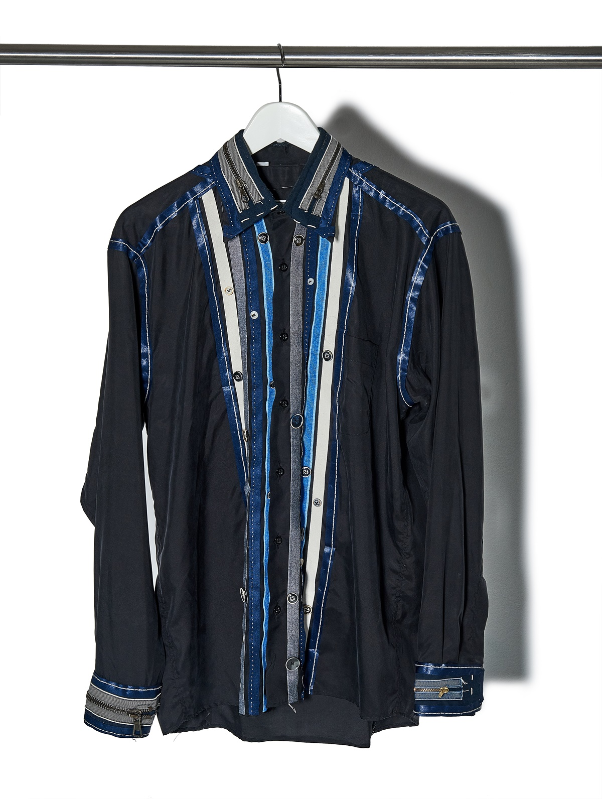 One the new Silk shirt, fashion project Silkline Mouhtaridis with Think Feel Discover at LFW Feb18