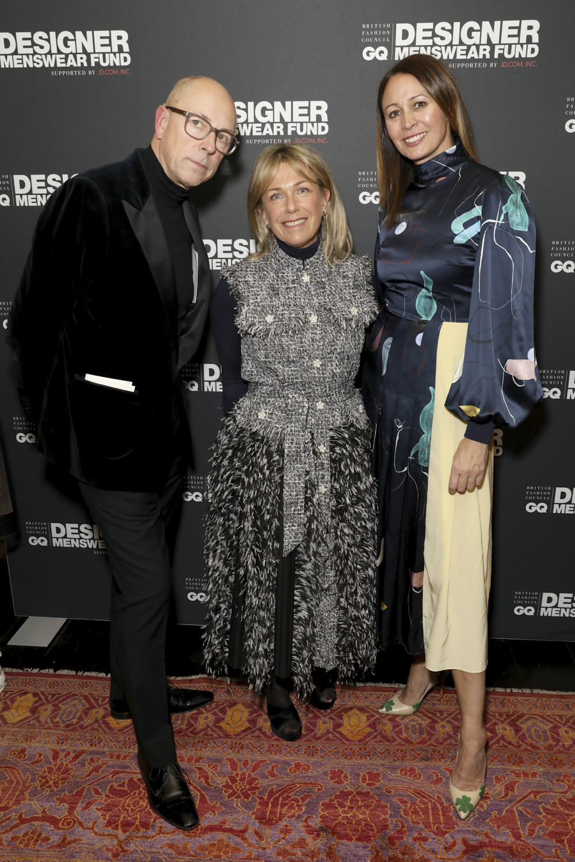 Dylan Jones, Caroline Rush at the BFC/CG Designer Menswear Fundsupported by JD.com