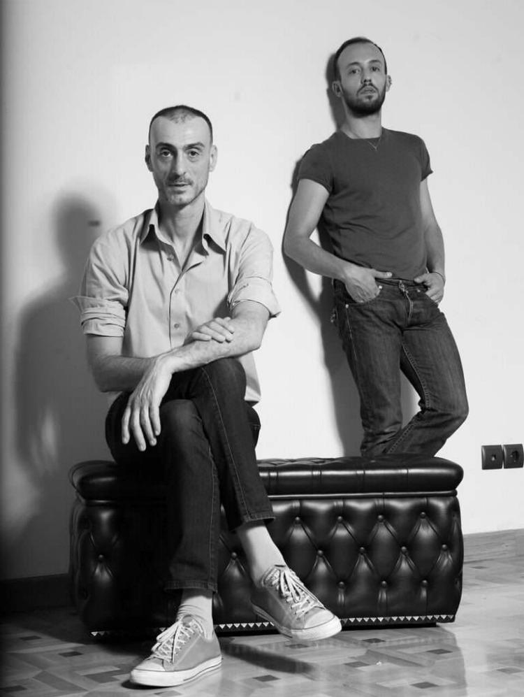 Christos Petridis, Venediktos Adipas, designers of Maison Faliakos