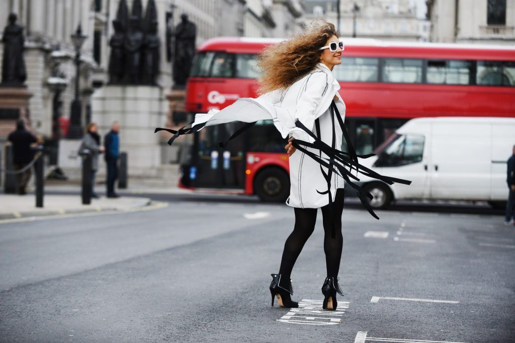 London street style during LFW FEb19 for Fashion project MEN shoe design of Chrysanthi Kosmatou, Think Feel Discover and Katerina Savrani shoe designer, Maison Faliakos outfit