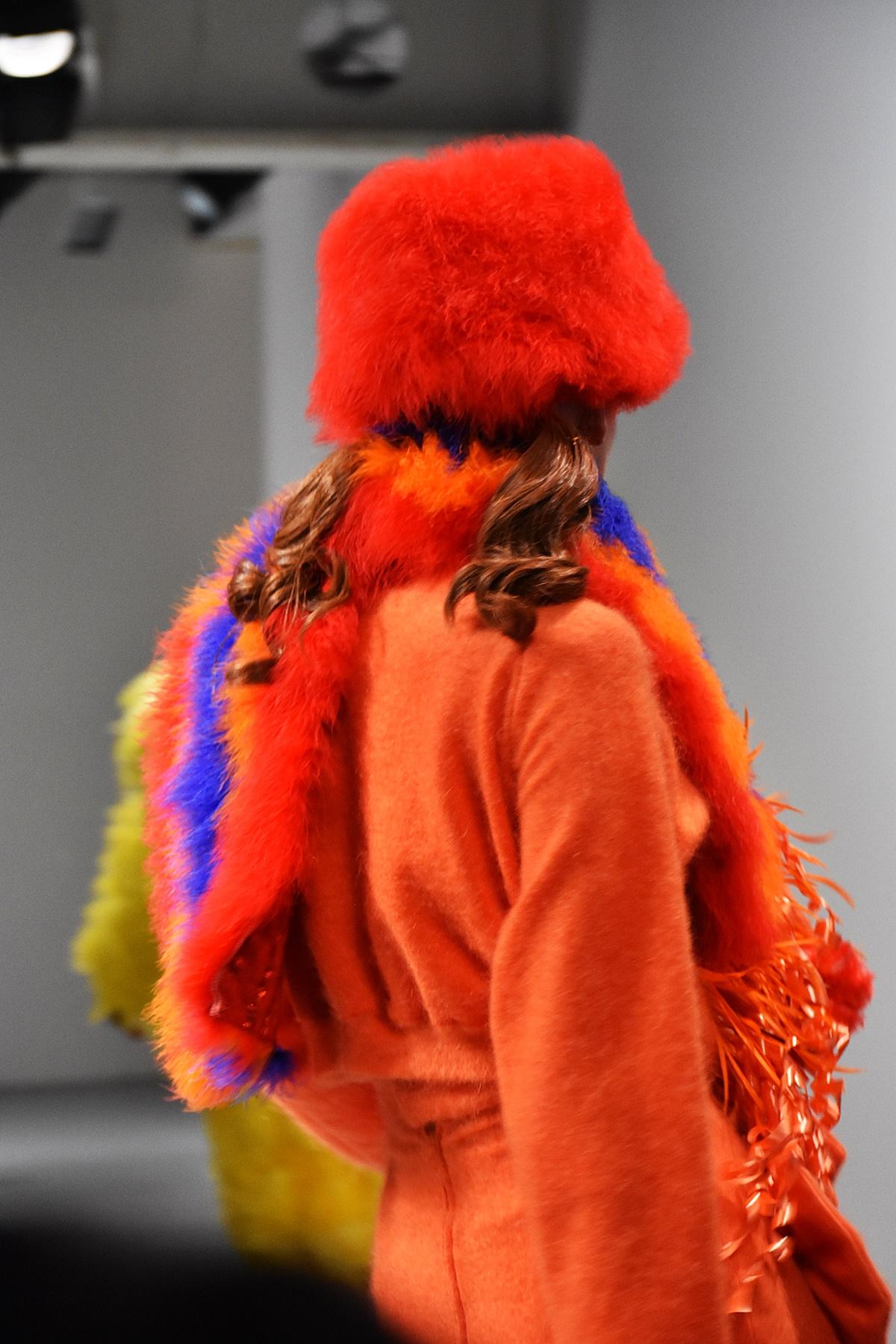 Jimmy Paul fashion show OnOff LFW Feb2019, Sesame street characters