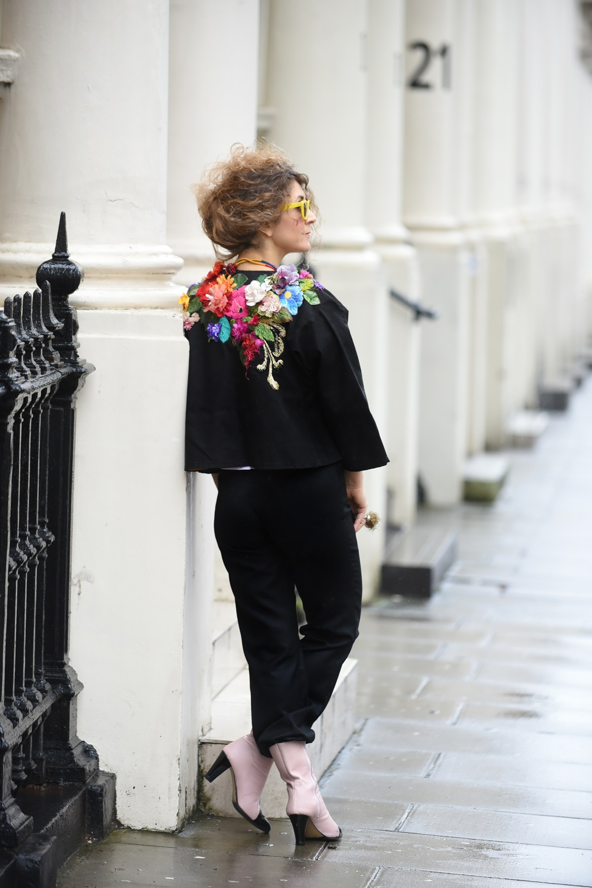 London street style with Ethnological Museum of Thrace during LFW2019, Think Feel Discover
