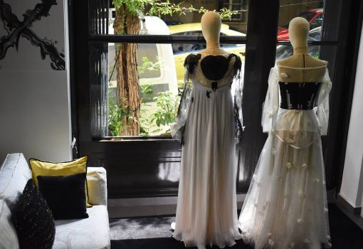 Maison Faliakos atelier, couture and accessories collection,Fashion Interview, Positive Fashion at LFW 2019, Think Feel Discover