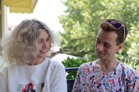 Chrysanthi Kosmatou, Fashion editor of Think Feel Discover with Panajiotis Thanos, Fashion Designer,Fashion Interview
