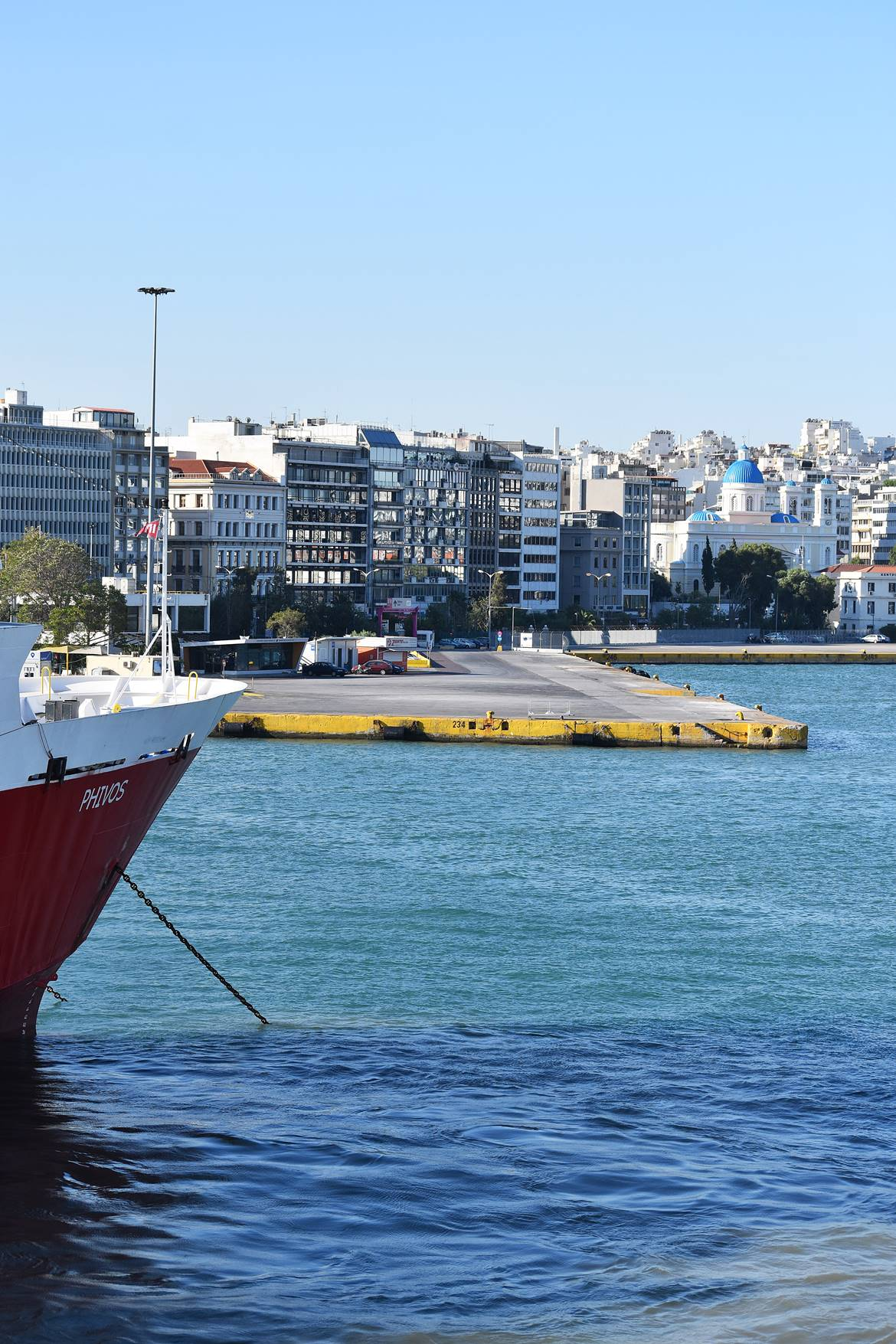 Piraeus port for Aegina Greece, Think-Feel-Discover