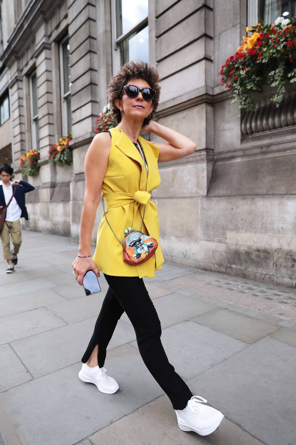 Kathy Heyndels outfit,Poua Stories, fashion collage bag, LFWSS20 street style, Think Feel Discover