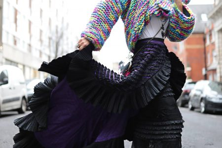 Fashion Awards 2019, Maison Faliakos couture skirt,Best London Fashion Week street style 2019, Think Feel Discover