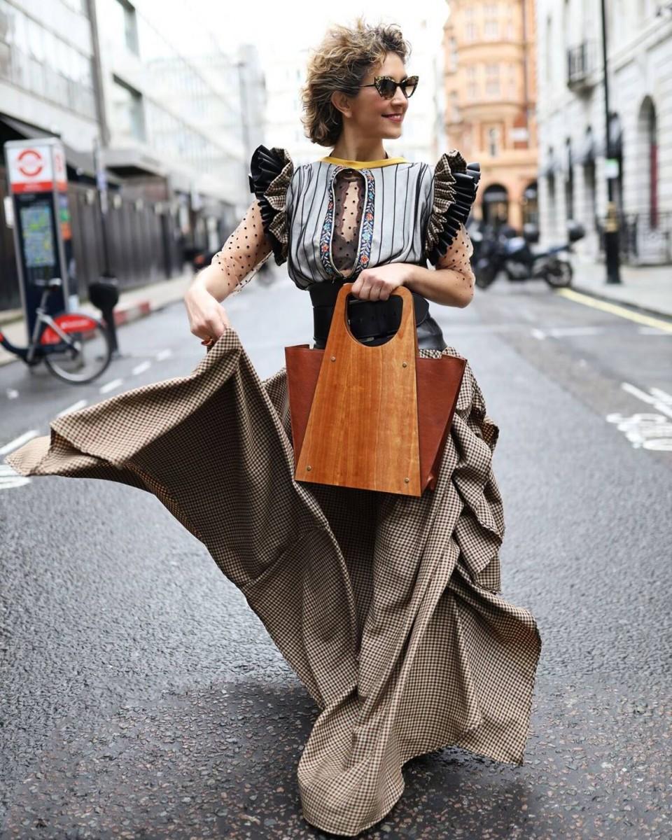 Chrysanthi Kosmatou fashion blogger, vlogger, fashion stylist of Think-Feel-Discover.com, About Me photo, London Street Style during LFW Feb20