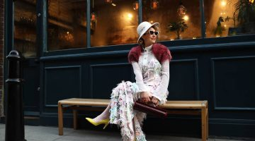 Chrysanthi Kosmatou,Think-Feel-Discover fashion blogger, vlogger, fashion stylist About Me photo, London Street Style during LFW in February 2020