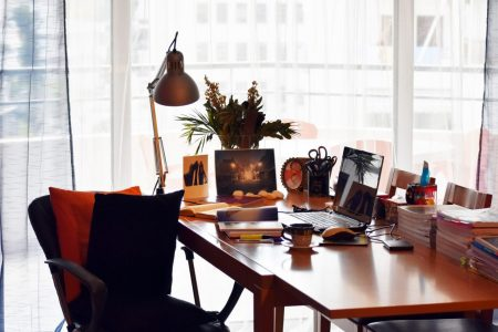 Office space of Think-Feel-Discover inspiration, stay safe, stay creative during the quarantine.