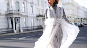 Maison Faliakos Couture dress wearing by Think-Feel-Discover, Chrysanthi KosmatouBest Fashion Awards 2019 London Red carpet fashion