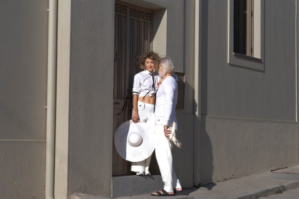 Milan street style, Milan Fashion Week 2020, menswear street style in total white by Chrysanthi Kosmatou, Think-Feel-Discover.com
